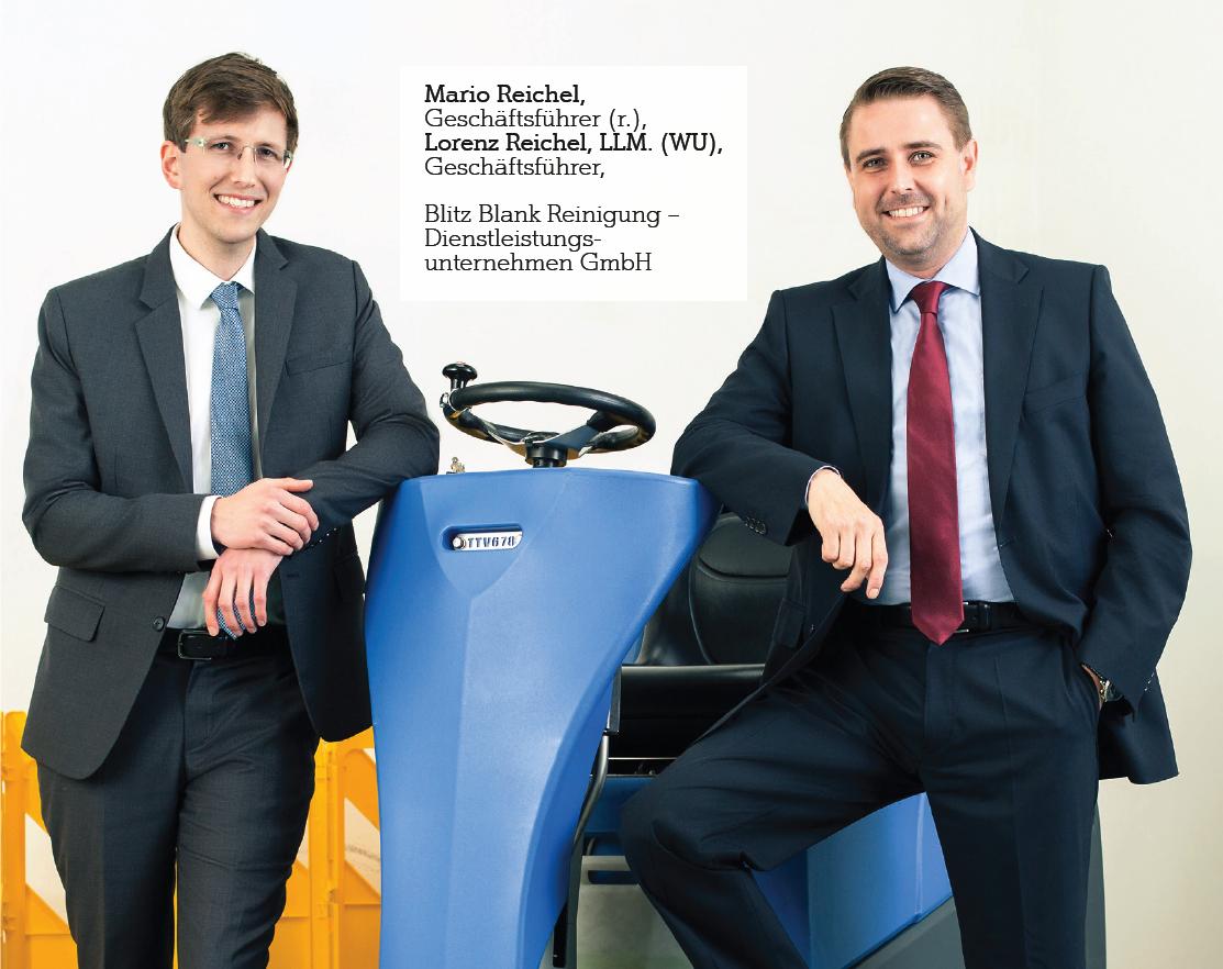 Mario und Lorenz Reichel, Geschäftsführer, Blitz Blank Reinigung – Dienstleistungsunternehmen GmbH